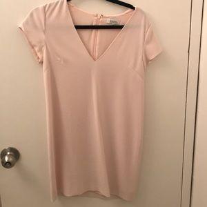 Aritzia silky shift dress pale pink